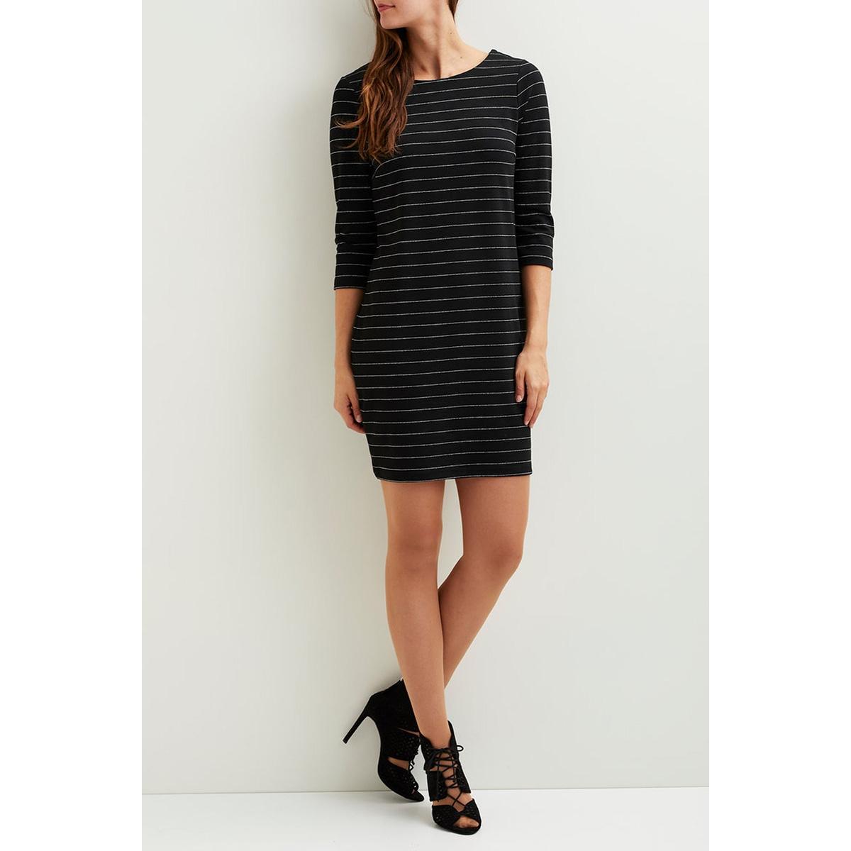 vitinny new dress - lux 14043921 vila jurk black/silver met