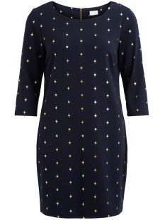Vila Jurk ITINNY NEW DRESS - LUX 14043921 Dark Navy/VIESTRALLA