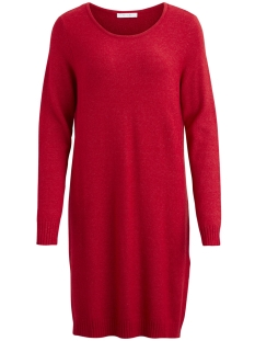 Vila Jurk VIRIL L/S KNIT DRESS-FAV 14043280 Chili Pepper/MELANGE