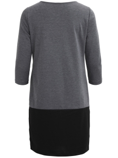 vitinny pu pocket block dress 14045275 vila jurk medium grey melange