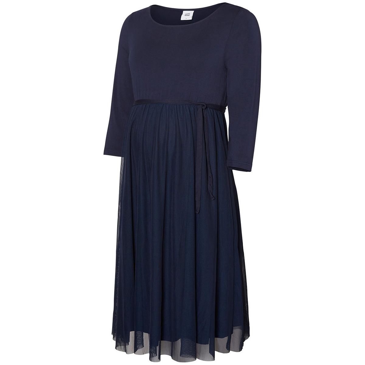mlbianka 3/4 abk jersey dress 20007895 mama-licious positie jurk navy blazer