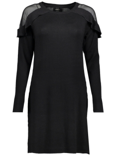 Only Jurk onlSIGNE L/S DRESS KNT 15145437 Black