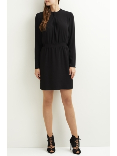 vicallie l/s drape dress 14043873 vila jurk black