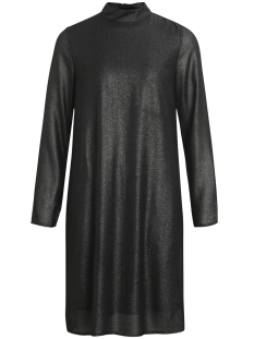 Object Jurk OBJGLIMMER L/S DRESS A BF 23026698 Black Silver Foil