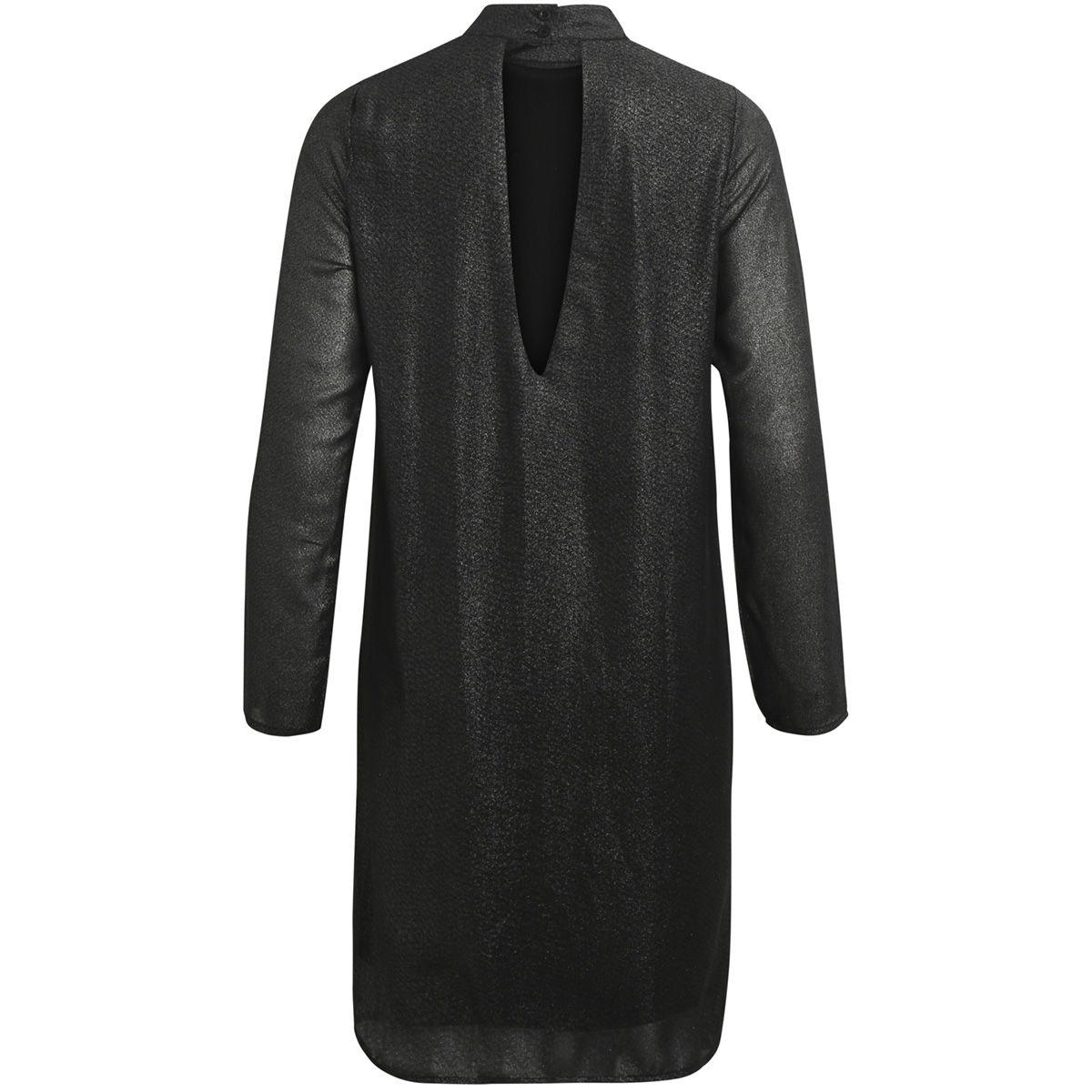 objglimmer l/s dress a bf 23026698 object jurk black silver foil