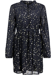 Vero Moda Jurk VMDIVIA DOT FRILL LS SHORT DRESS FD 10198235 Night Sky / Gold Dots