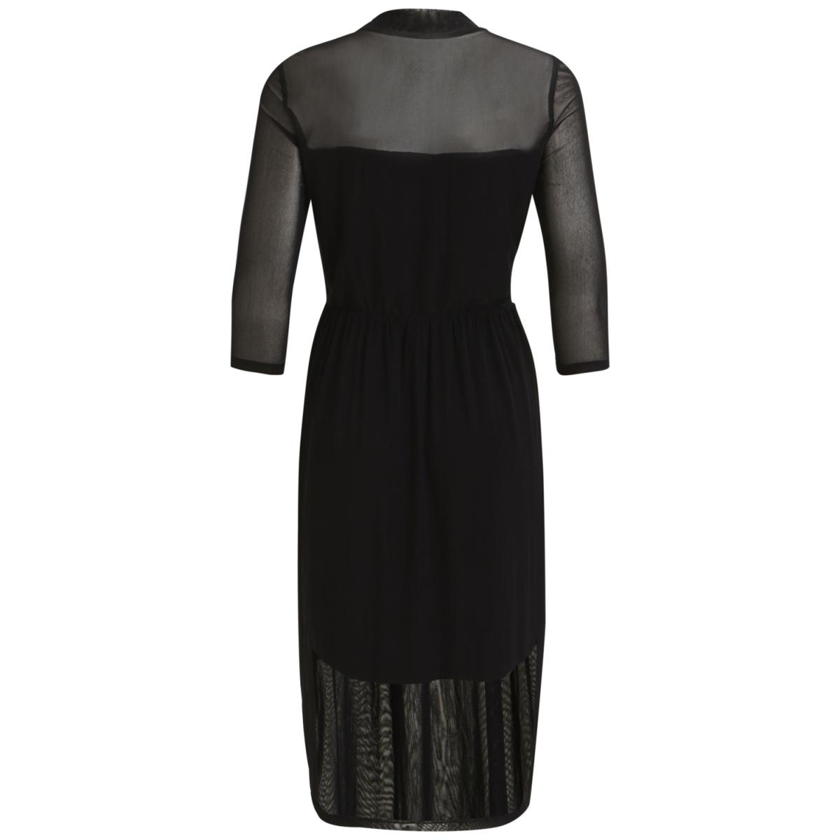 objczech l/s high neck midi dress a 23026097 object jurk black