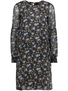 Vero Moda Jurk VMROSE LS ABK DRESS 10190992 Black/BLAUW