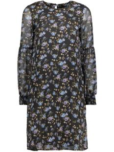 vmrose ls abk dress 10190992 vero moda jurk black/blauw
