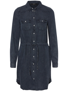 Vero Moda Jurk VMSPACE LS SHIRT DRESS 10189827 Dark Blue Denim