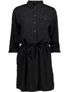 Only Jurk onlVERA L/S JACQUARD SHIRT DRESS WV 15146813 Black