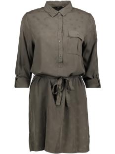 Only Jurk onlVERA L/S JACQUARD SHIRT DRESS WV 15146813 Black Olive