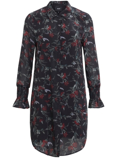 Object Jurk OBJLANI LULU L/S SHIRT DRESS A WI 23026486 Black/Red