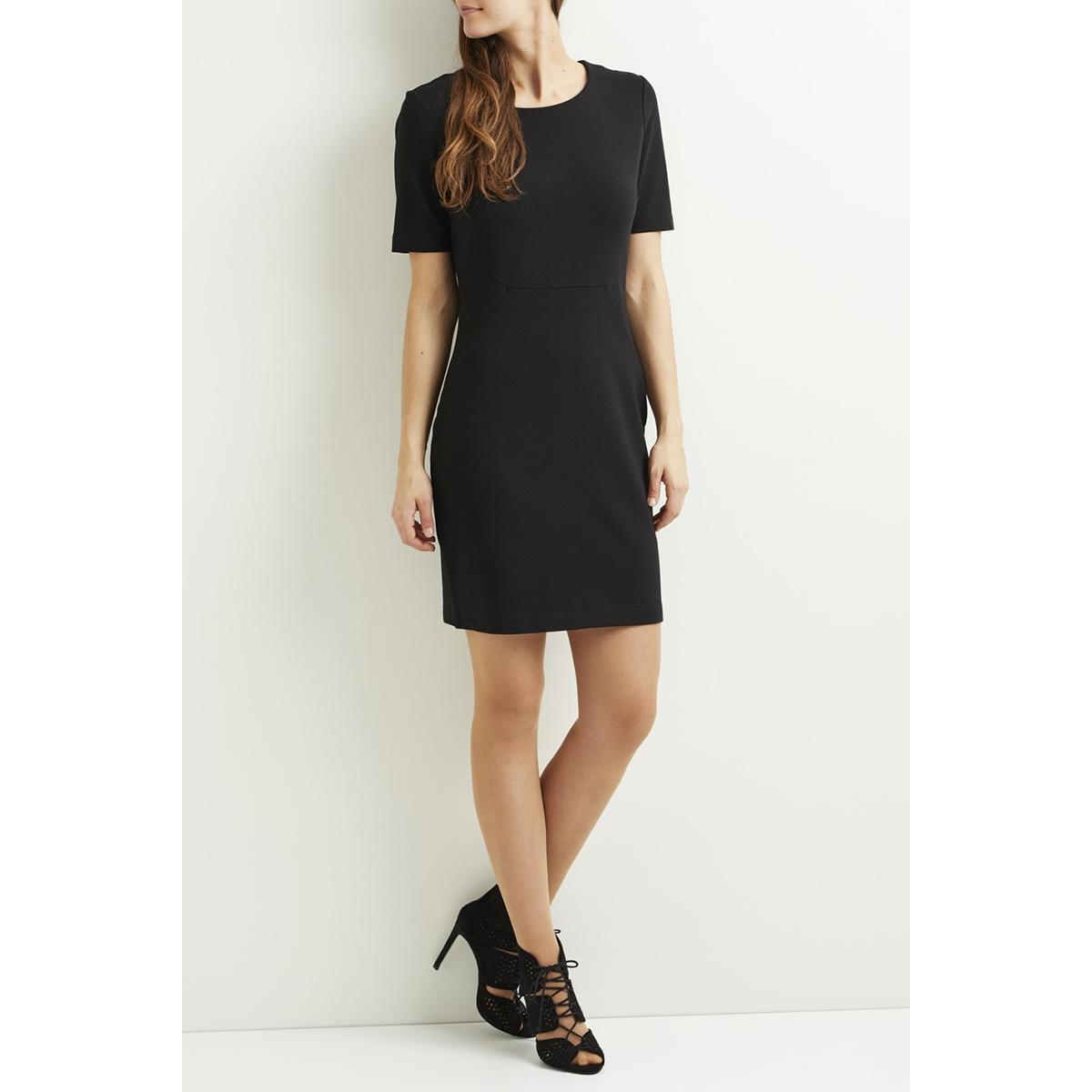 vifellow s/s dress - noos 14044489 vila jurk black