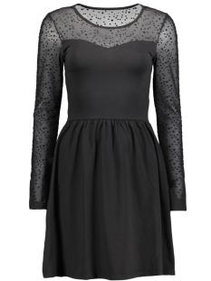 onlniella l/s mesh star  dress jrs 15140480 only jurk black/small stars