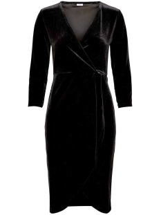 Jacqueline de Yong Jurk JDYSANDY 3/4 WRAP DRESS JRS 15150001 Black