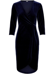 Jacqueline de Yong Jurk JDYSANDY 3/4 WRAP DRESS JRS 15150001 Dress Blues