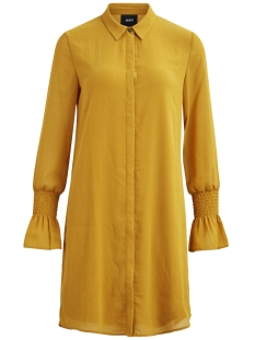 Object Jurk OBJLANI LULU L/S SHIRT DRESS A LTD 23027539 Harvest Gold