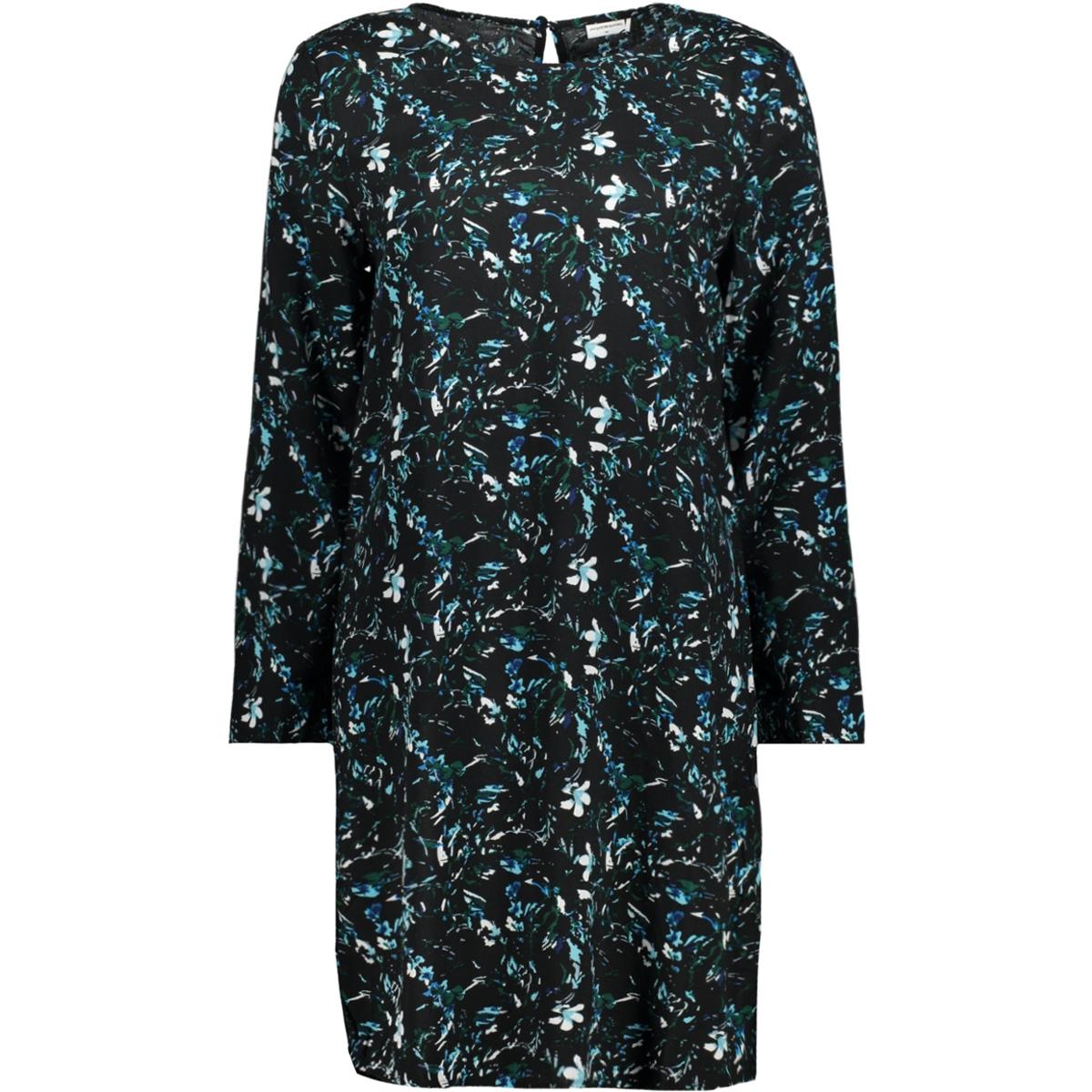 jdybillie ls print dress wvn rpt 15157667 jacqueline de yong jurk black/01