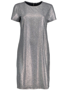 Only Jurk onlDANA ZIP SS DRESS WVN 15154221 Night Sky /SILVER FOI