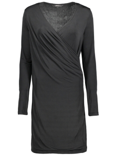 Vero Moda Jurk VMNAOMI L/S WRAP SHORT DRESS D2-1 10191364 Black