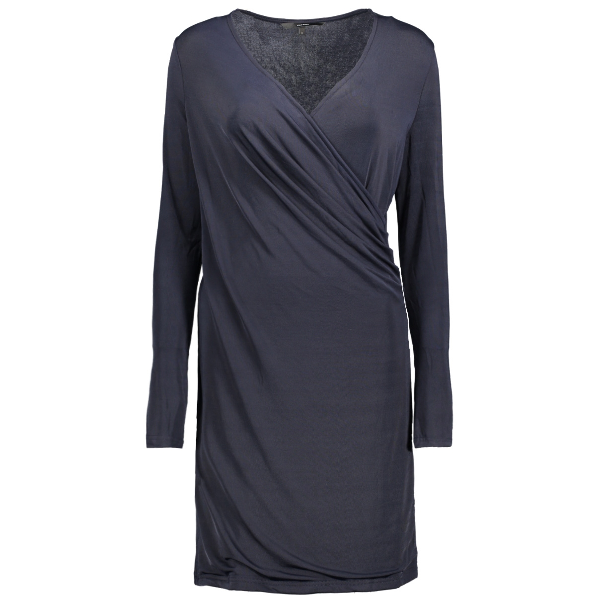 vmnaomi l/s wrap short dress d2-1 10191364 vero moda jurk night sky