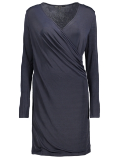 Vero Moda Jurk VMNAOMI L/S WRAP SHORT DRESS D2-1 10191364 Night Sky