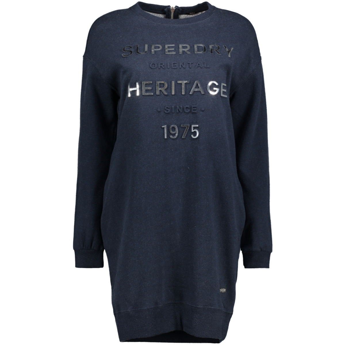 g80002pp iona sweat superdry jurk si0 navy