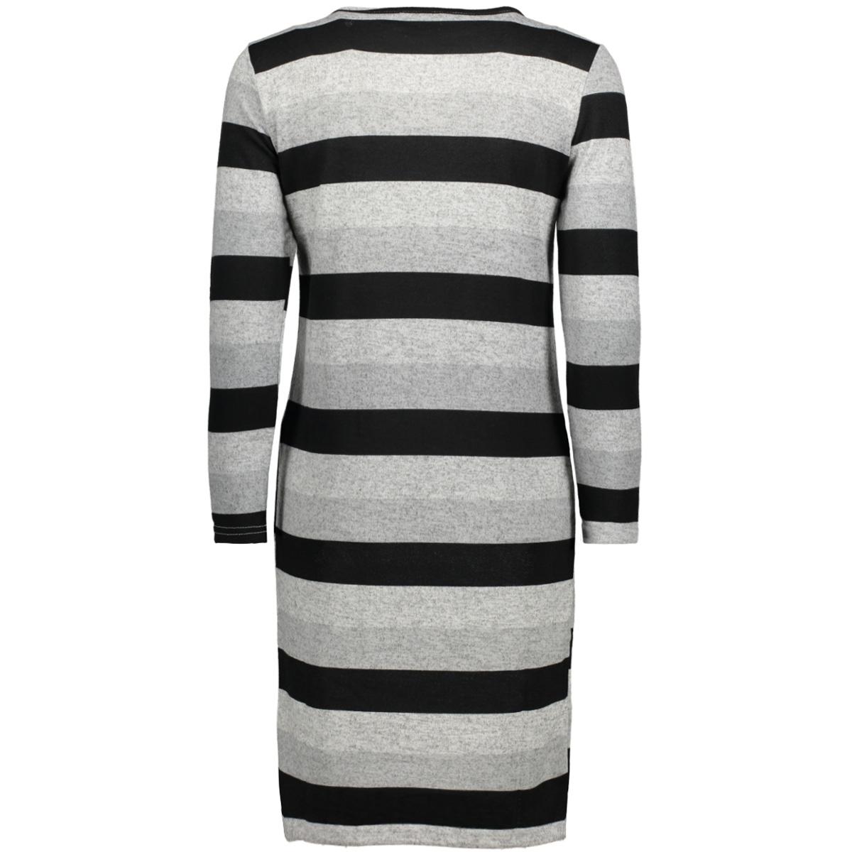 onlelcos short dress 7/8 jrs 15150485 only jurk light grey mela/stripe