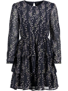 Only Jurk onlDITTE L/S LAYRED DRESS WVN 15153768 Night Sky/FLOWER PRI