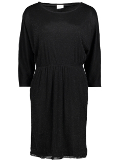Vila Jurk VILAU 3/4 SLEEVE DRESS 14045415 Black/With Black