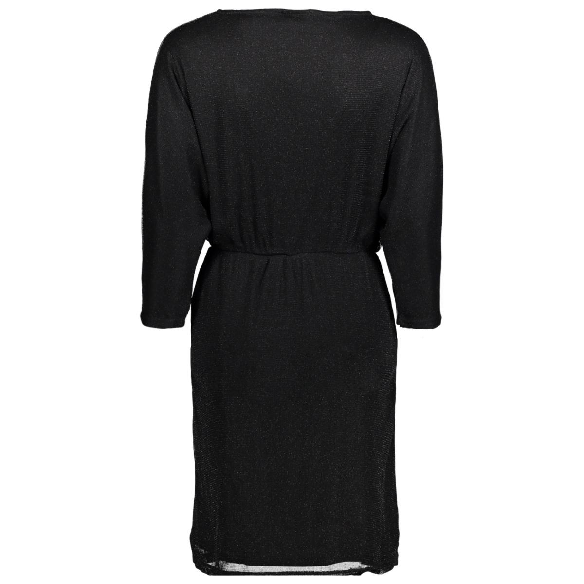 vilau 3/4 sleeve dress 14045415 vila jurk black/with black