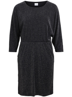 Vila Jurk VILAU 3/4 SLEEVE DRESS 14045415 Black/with silver