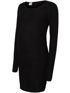Mama-Licious Positie jurk MLLOLA L/S KNIT SHORT DRESS 20008002 Black