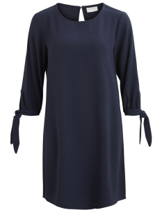 Vila Jurk VISALINA 3/4 KNOT DRESS 14045093 Total Eclipse