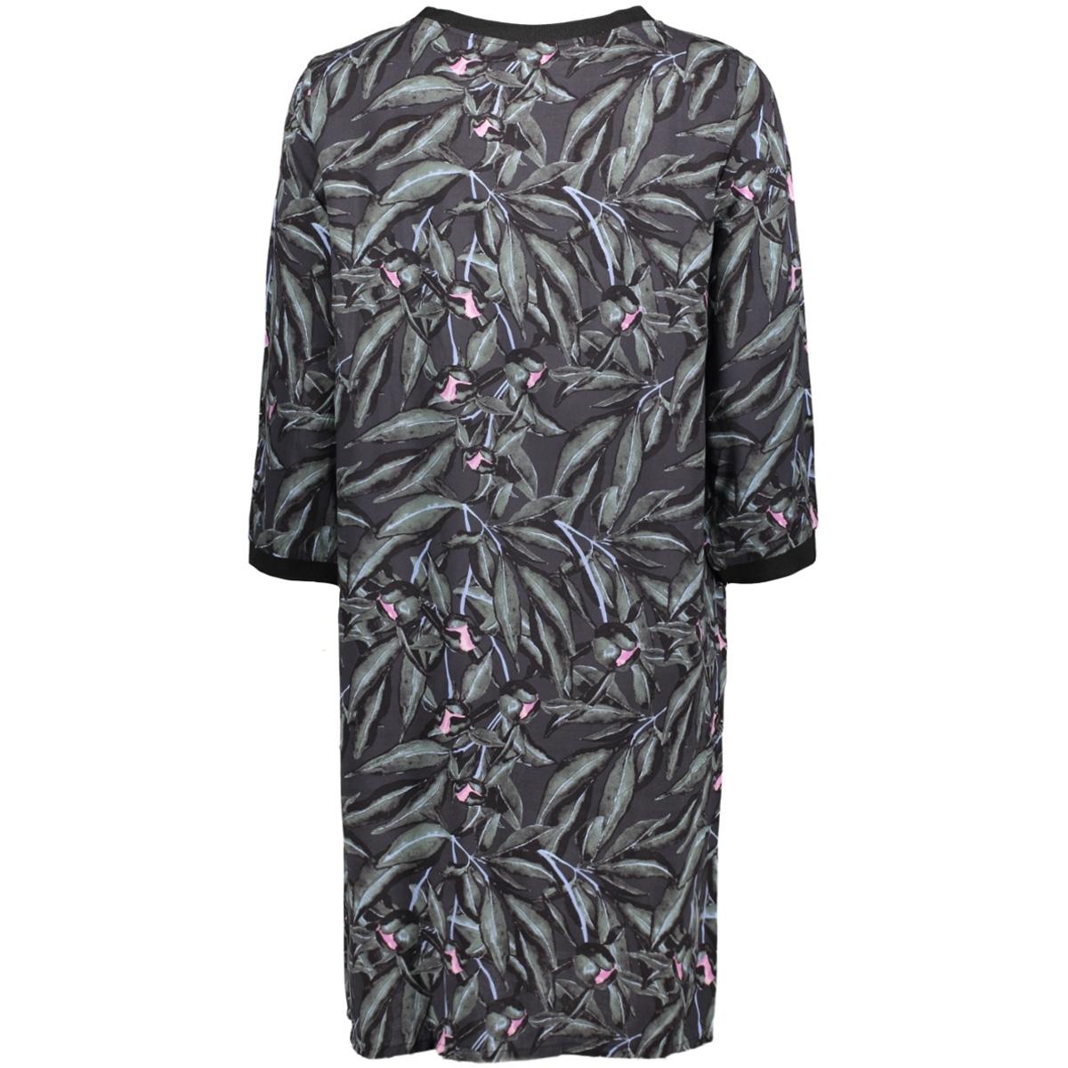 objhaley triny 3/4 dress pb3 23026692 object jurk black/black aop