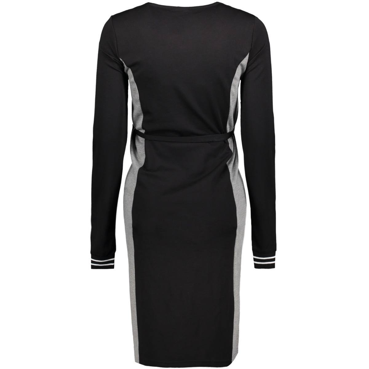 mlvarna l/s jersey abk dress 20008113 mama-licious positie jurk black