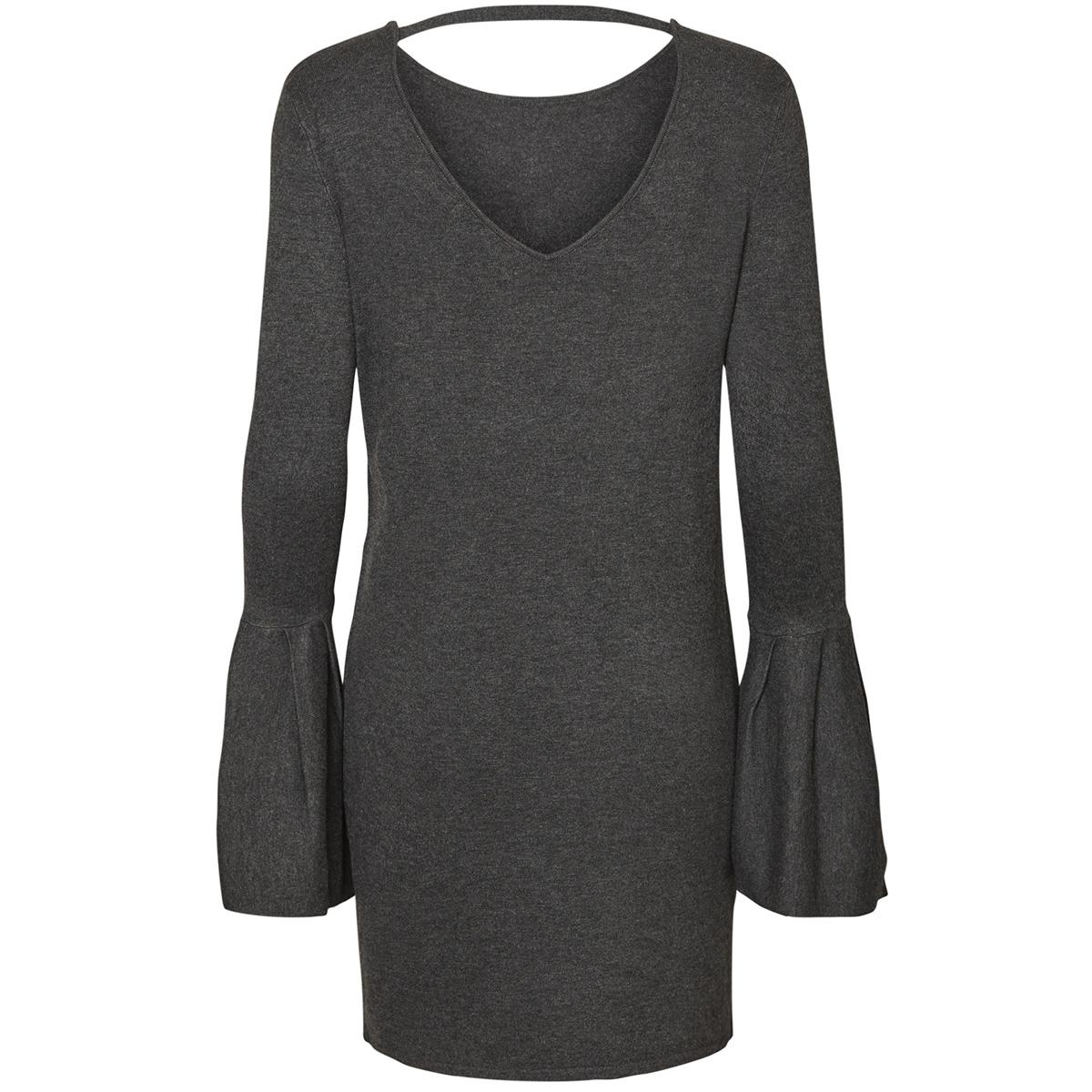 vmbiggs glory bell ls dress 10182162 vero moda jurk dark grey melange