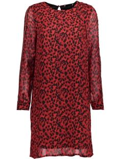 Only Jurk onlTHAI L/S  PANEL DRESS WVN 15160075 Flame Scarlet