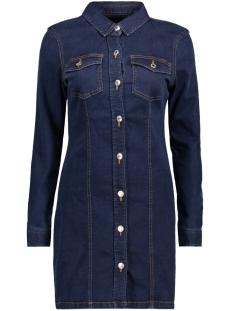 Vero Moda Jurk VMJACKIE LS SHORT DRESS 10188712 Dark Blue Denim