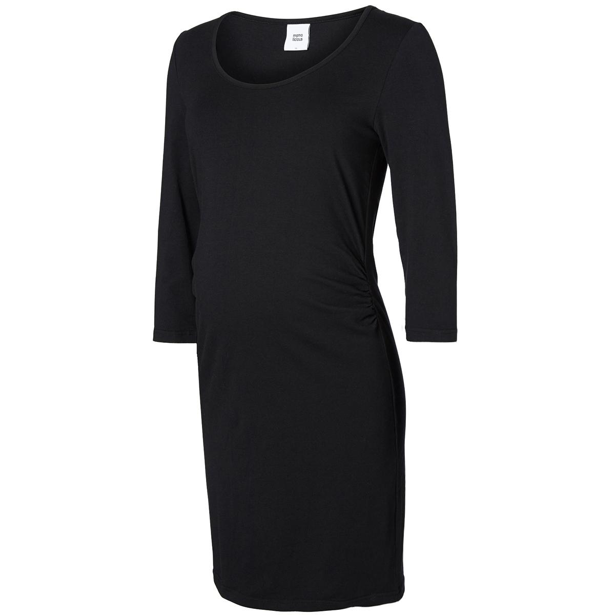 mllea organic 3/4 dress 20007240 mama-licious positie jurk black