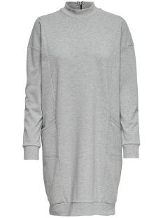 Only Jurk onlTILDA L/S OVERSIZE DRESS JRS 15151011 Light Grey Melan / Black Zipp