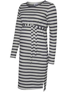 Mama-Licious Positie jurk MLBELINDA L/S JERSEY ABK DRESS 20008164 Black Iris/BLACK IRIS