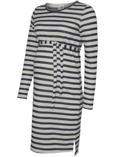 mlbelinda l/s jersey abk dress 20008164 mama-licious positie jurk black iris/black iris