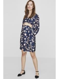 mlkaleva 3/4 woven short dress 20008181 mama-licious positie jurk black iris