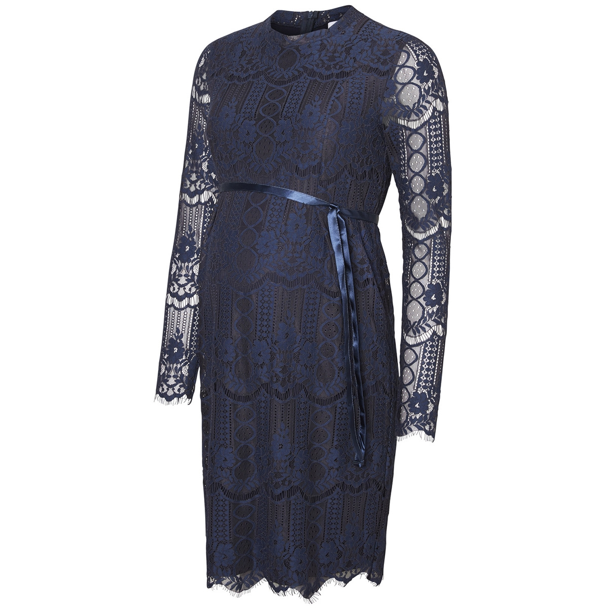 mlwilmar l/s woven lace k. length d 20008176 mama-licious positie jurk black iris