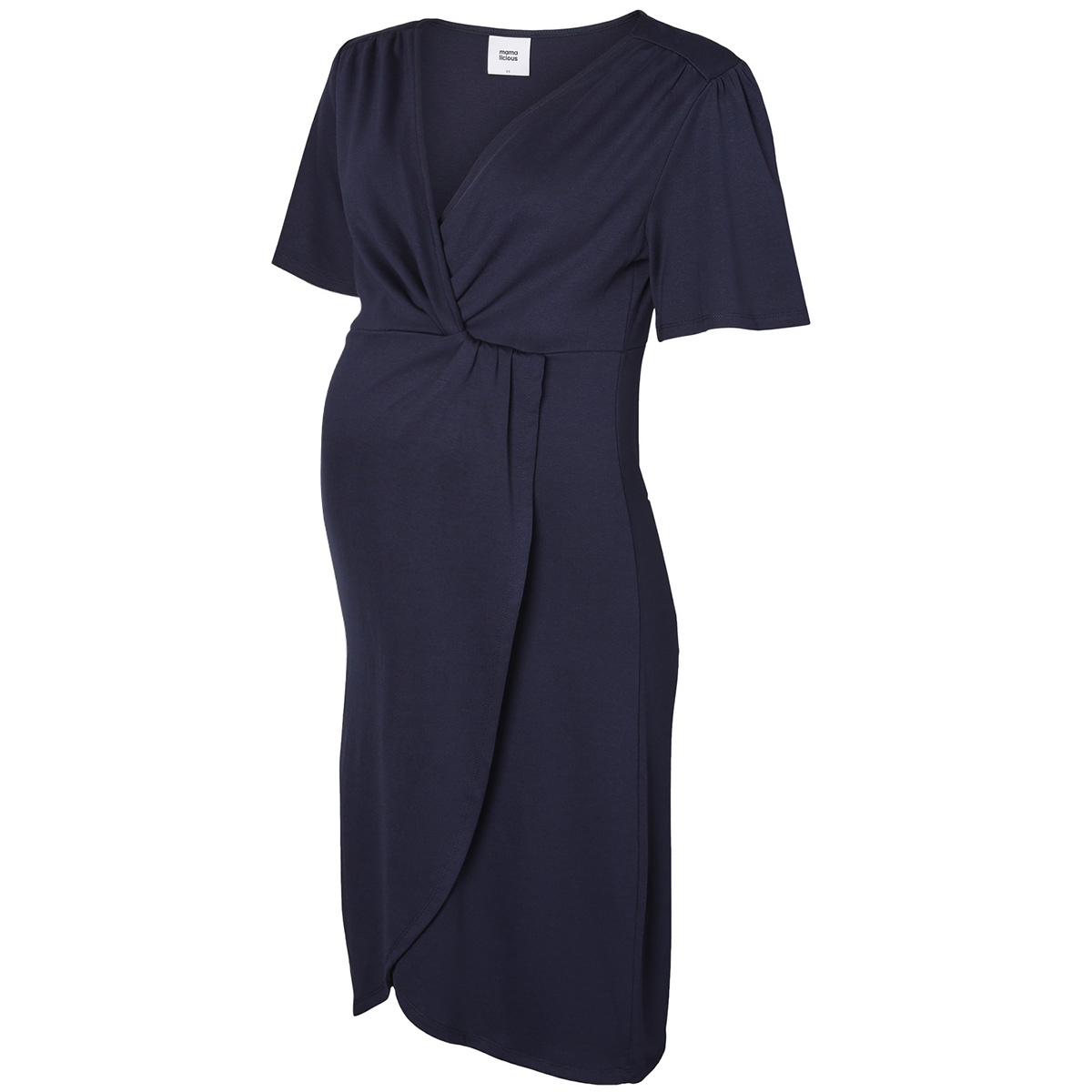 mlsuri 2/4 abk jersey dress 20008170 mama-licious positie jurk black iris