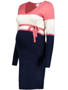 Mama-Licious Positie jurk MLLIBBY L/S KNIT ABK. DRESS 20008101 Black Iris