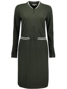 jurk met ribgebreide kraag 23001282 sandwich jurk 50014