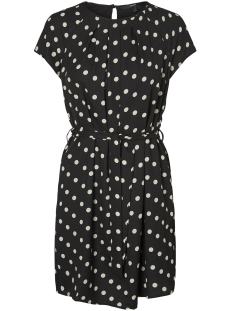 Vero Moda Jurk VMNELLI S/S SHORT WVN DRESS NOOS 10181855 Black/White dots